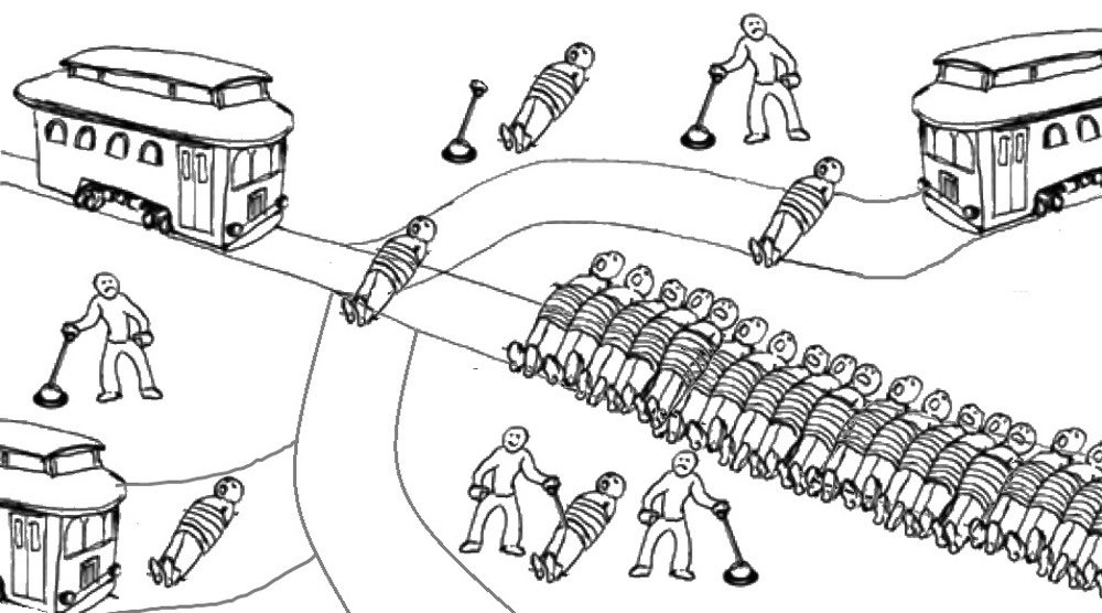 The trolley problem; somebody's gonna die, but who?