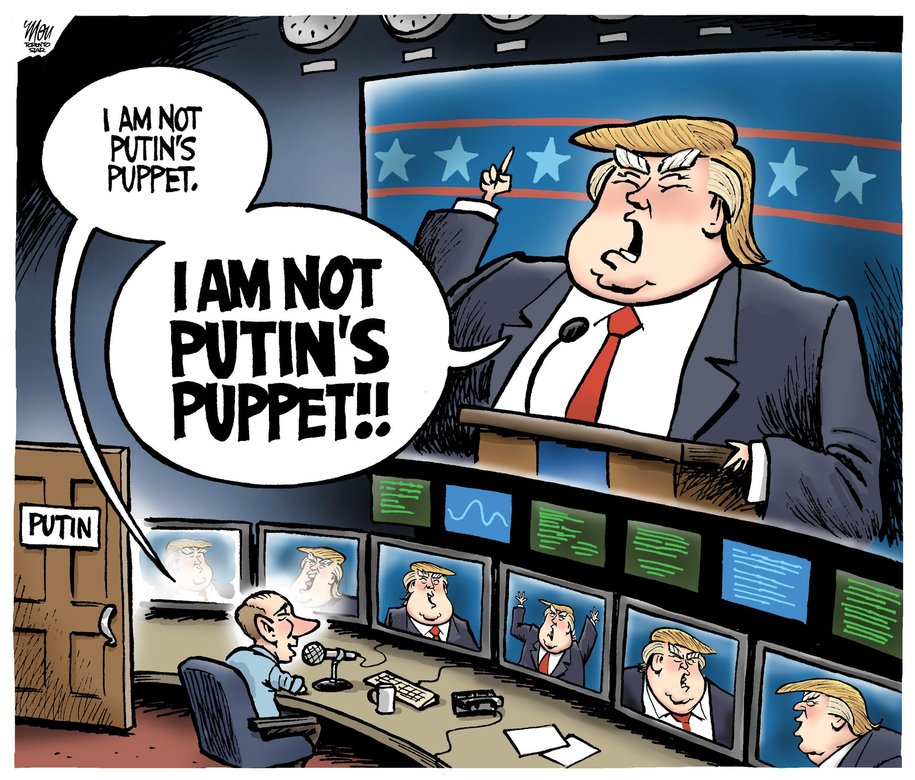 Trump as the puppet of Putin
