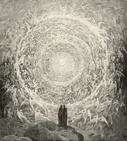 Gustave Dore from the Paradiso, the Divine Comedy, Dante